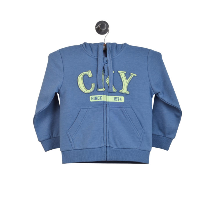 POLERÓN BEBÉ ZIPPER CKY LIGHT DENIM BOY_11990