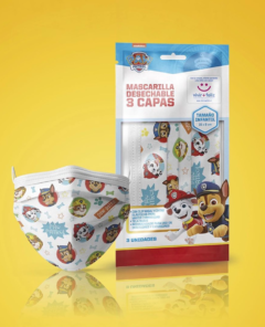 Mascarillas Paw Patrol Chile
